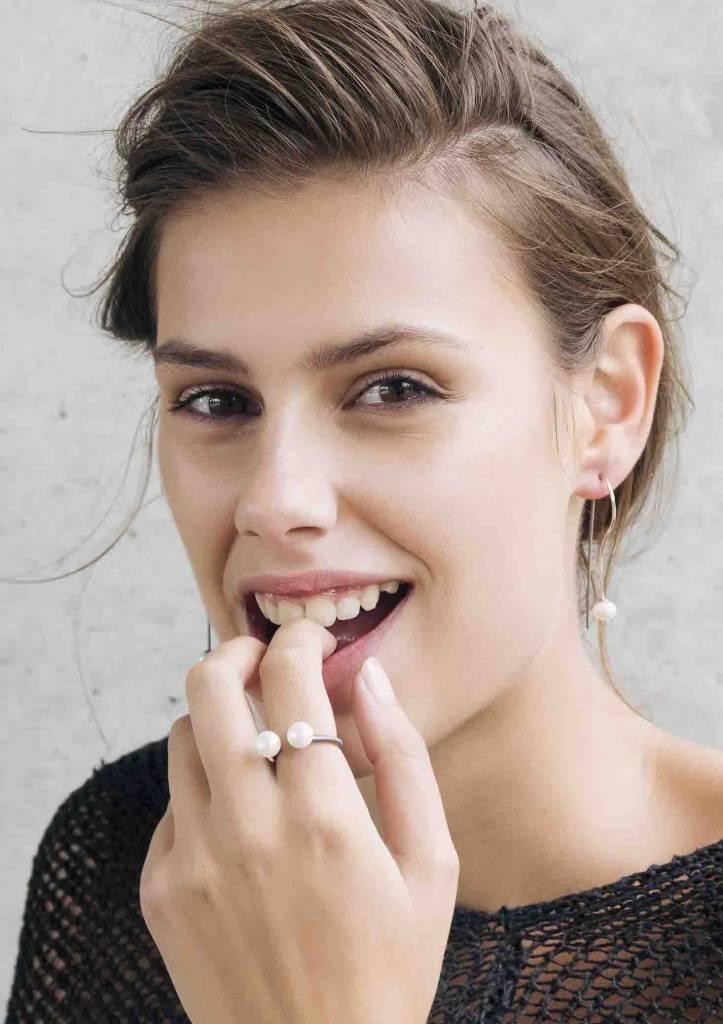 Dutch Basics Pearl Ring - Oxidized Silver