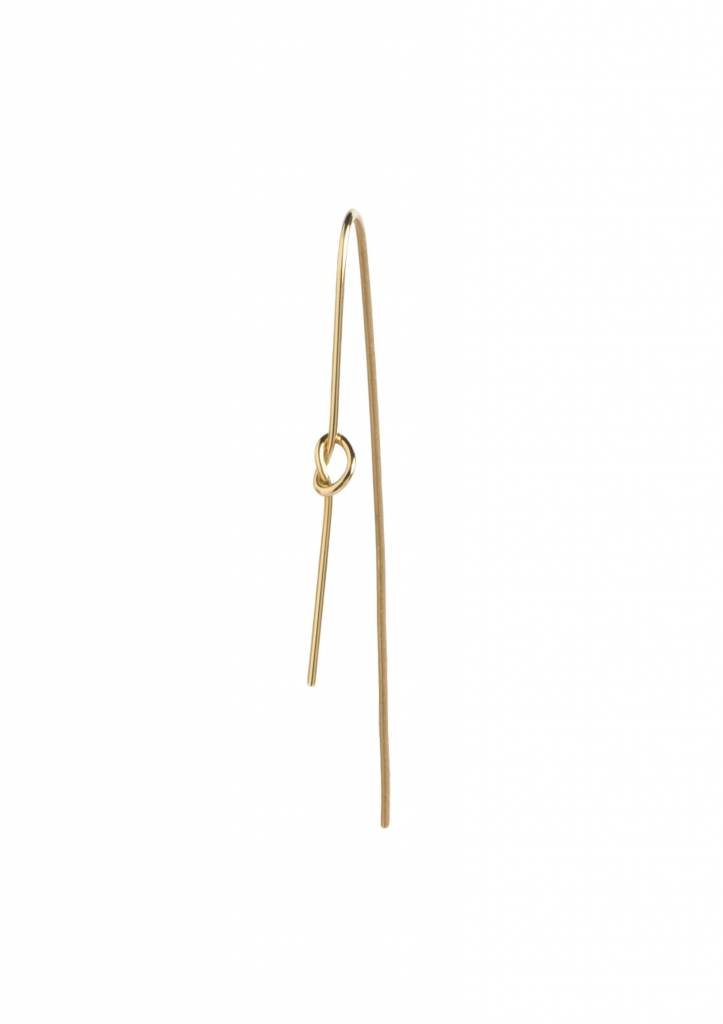 Dutch Basics Knot Earring - Gold Plated