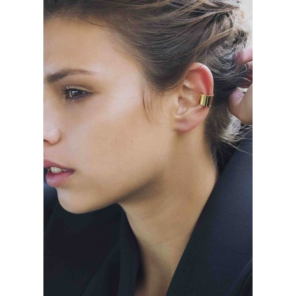 Thick Ear Cuff - Gold Plated Silver