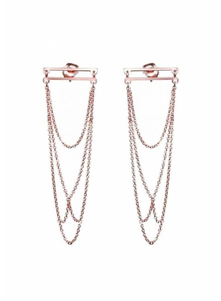 Dutch Basics Arch Earrings - Rose Plated