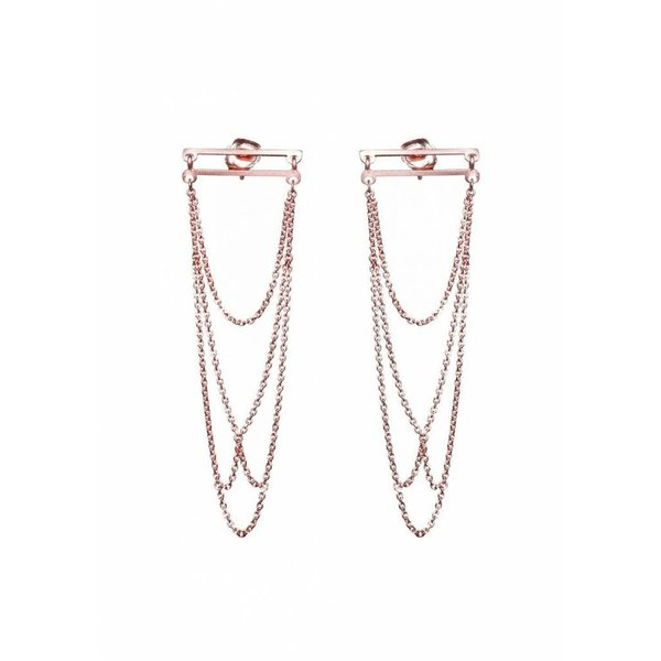 Arch Earrings - Rose Plated