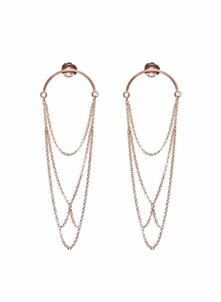 Dutch Basics Curved Arch earrings - Rose Plated