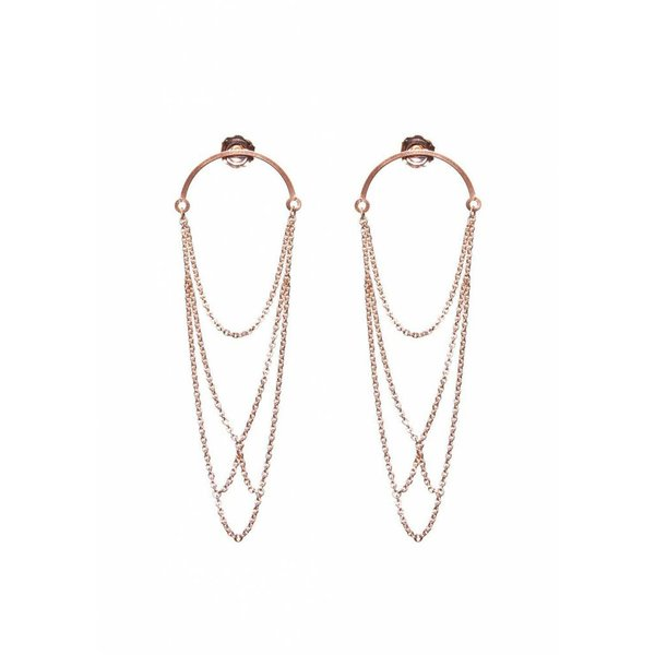 Curved Arch earrings - Rose Plated