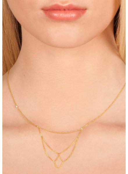 Dutch Basics Arch Necklace - Gold Plated