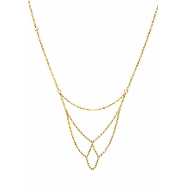 Arch Necklace - Gold Plated