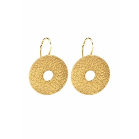 Dutch Basics Coins Earrings - Gold Plated