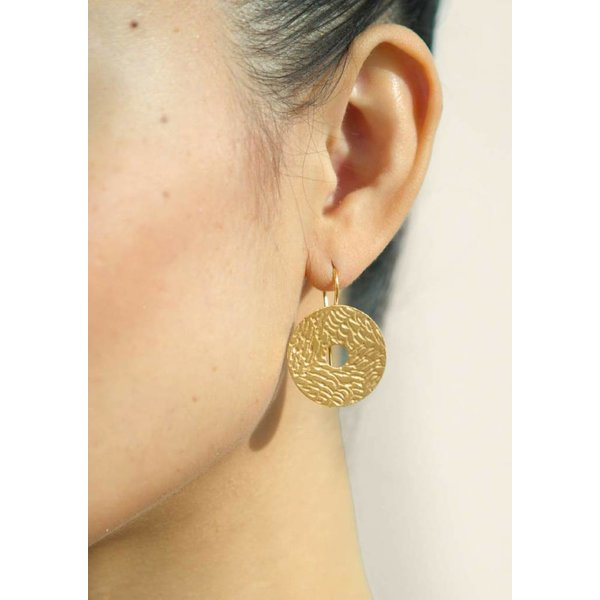 Coins Earrings - Gold Plated