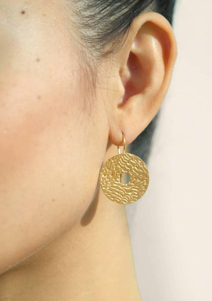 Dutch Basics Coins Earrings - Gold Plated