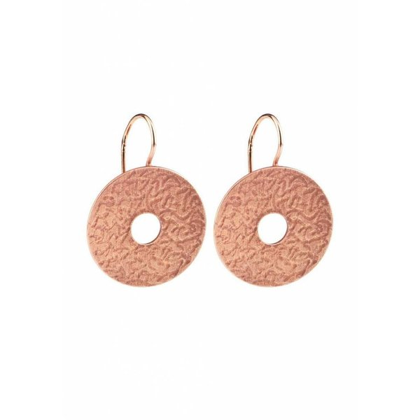Coins Earrings - Rose Plated