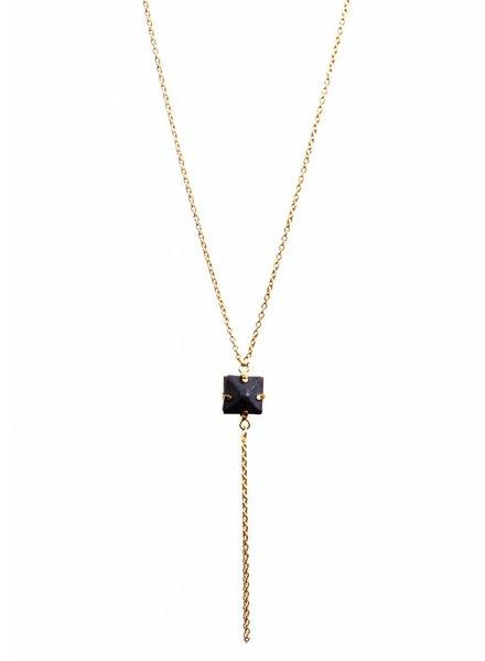 Dutch Basics Black Porcelain Pendant Necklace