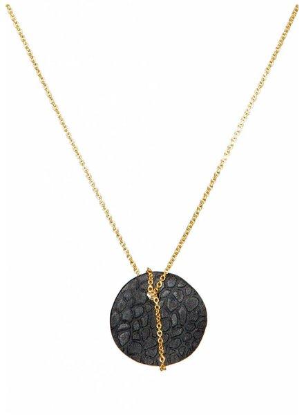 Dutch Basics Black Porcelain Moon Necklace