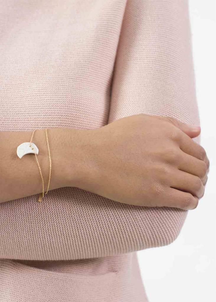 Dutch Basics Porcelain Double Moon Bracelet