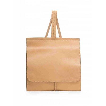 Dutch Basics Minimal Leather Backpack - Camel