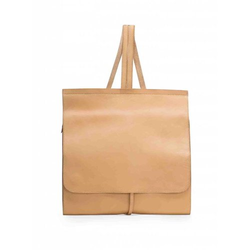 Dutch Basics Minimal Leather Backpack - Camel