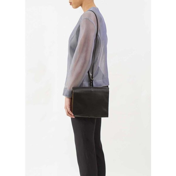 Messenger Shoulder Bag - Black