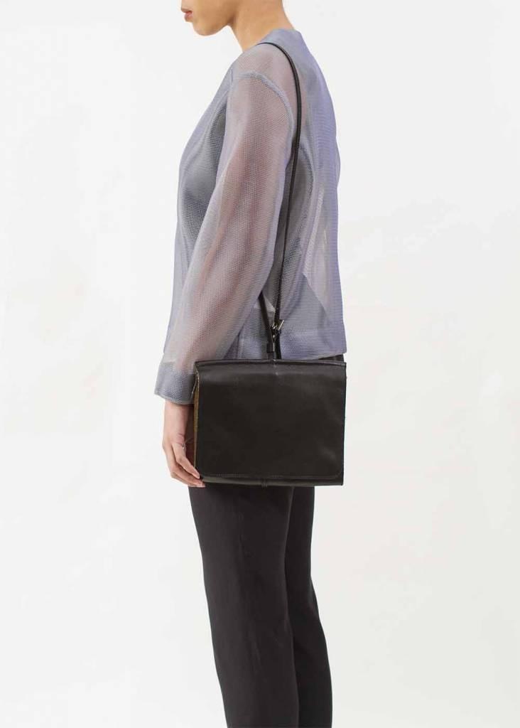 Dutch Basics Messenger Shoulder Bag - Black
