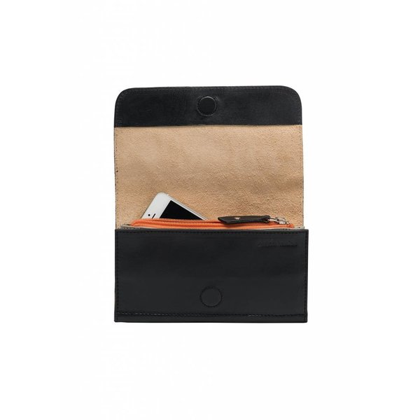 Minimal Leather Wallet - Black
