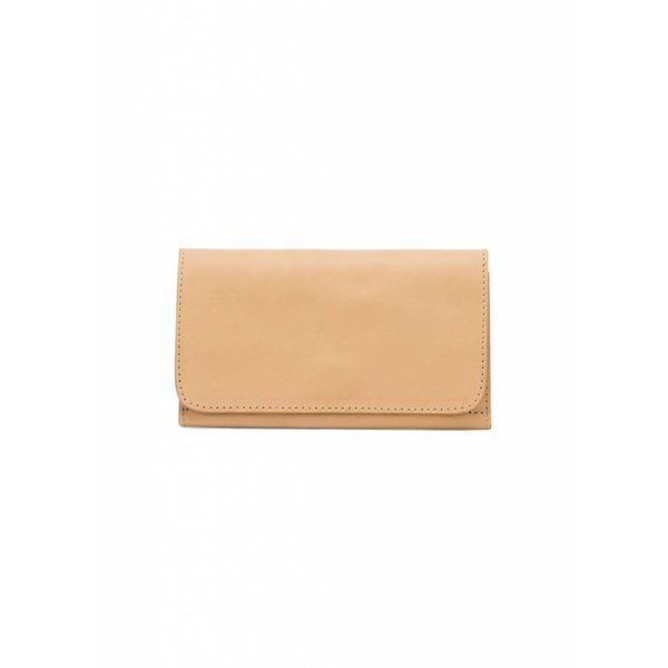 Minimal Leather Wallet - Camel