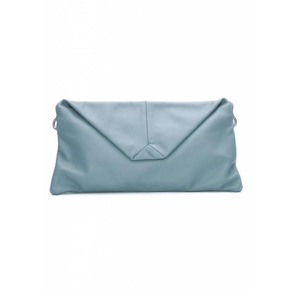 Envelope Leather Clutch - Blue