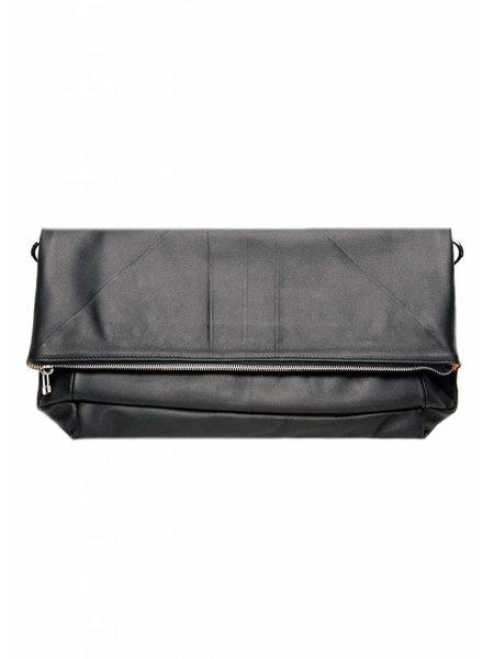 Dutch Basics Leather Folded Clutch - Black