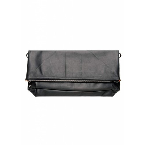 Dutch Basics Leather Folded Clutch - Black