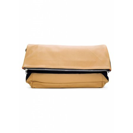 Dutch Basics Leather Folded Clutch - Nude
