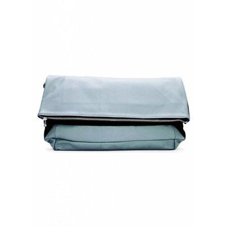 Dutch Basics Leather Folded Clutch - Blue