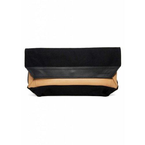 Dutch Basics Folded Envelop Clutch - Nude