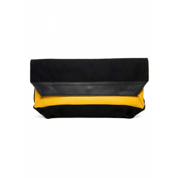 Folded Envelop Clutch - Yellow