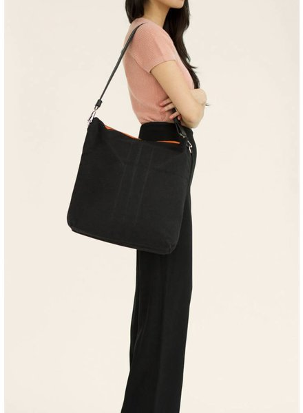 Dutch Basics Folded Leather Shopper - Black