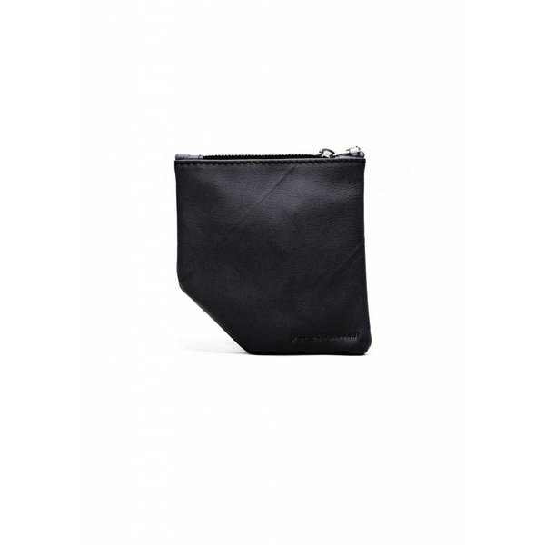 Small Diagonal Wallet - Black