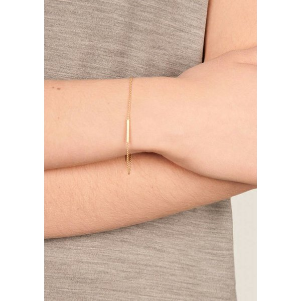 Cylinder Bar Bracelet - Gold Plated
