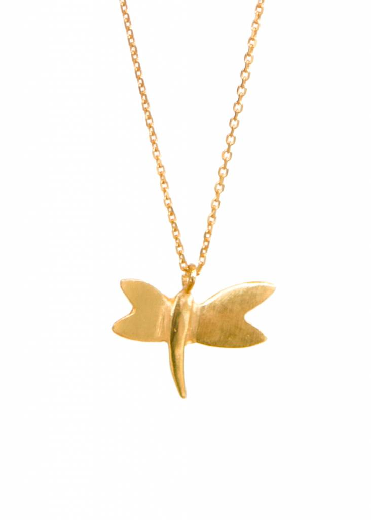 Dutch Basics Dragonfly Necklace - Gold Plated