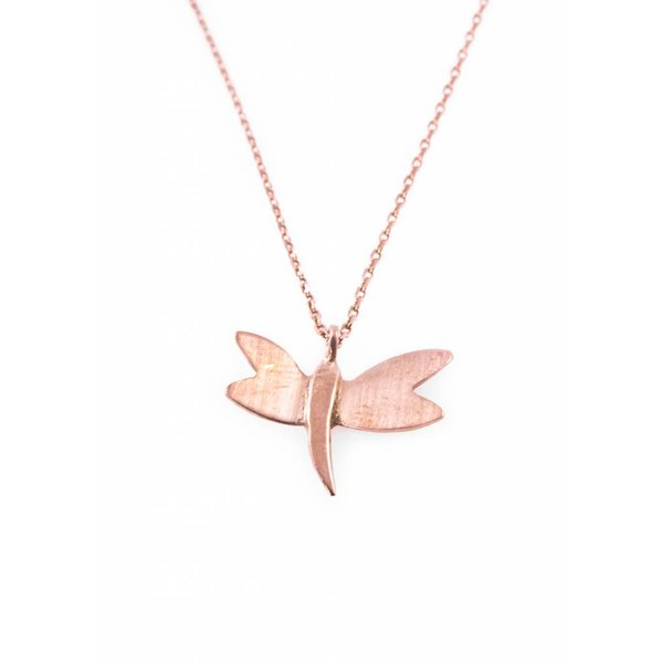 Dragonfly Necklace - Rose Plated