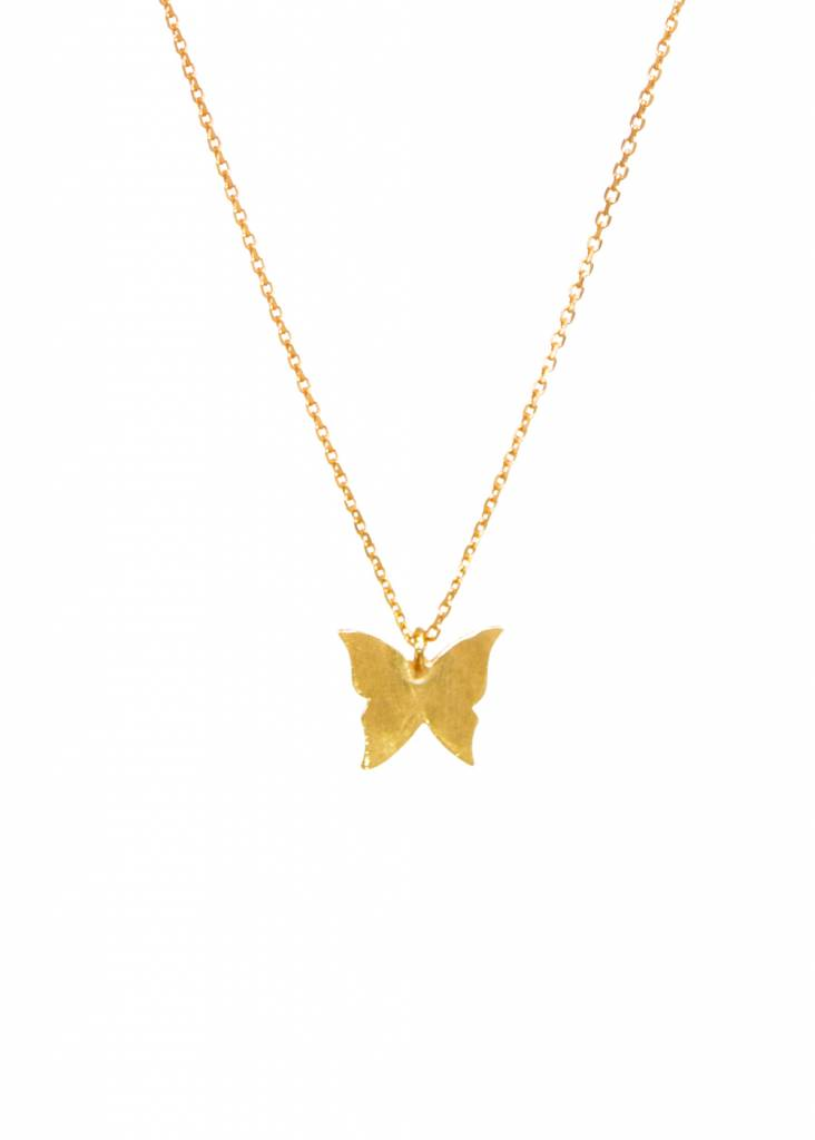 Dutch Basics Gold Plated Butterfly Necklace