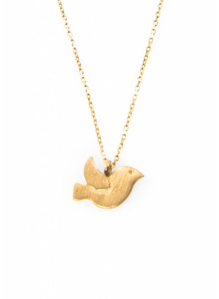 Dutch Basics Bird Necklace - Gold Plated