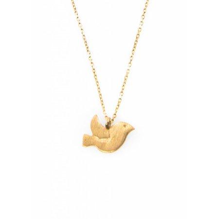 Dutch Basics Bird Necklace - Gold Plated