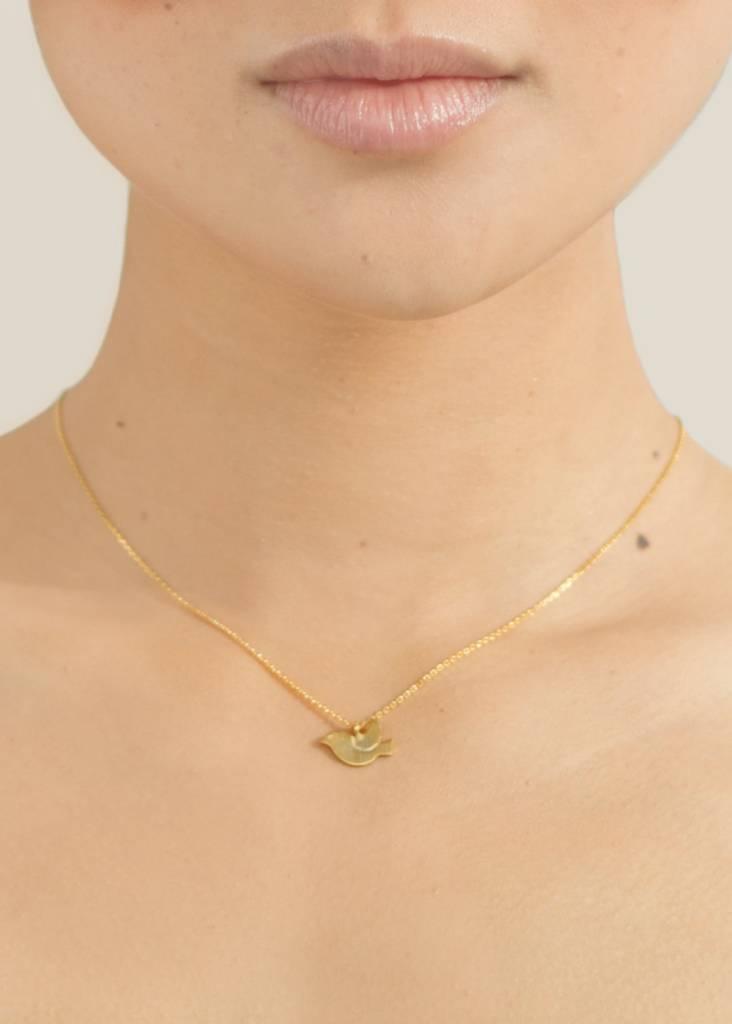Dutch Basics Bird Necklace - Oxidised and Gold