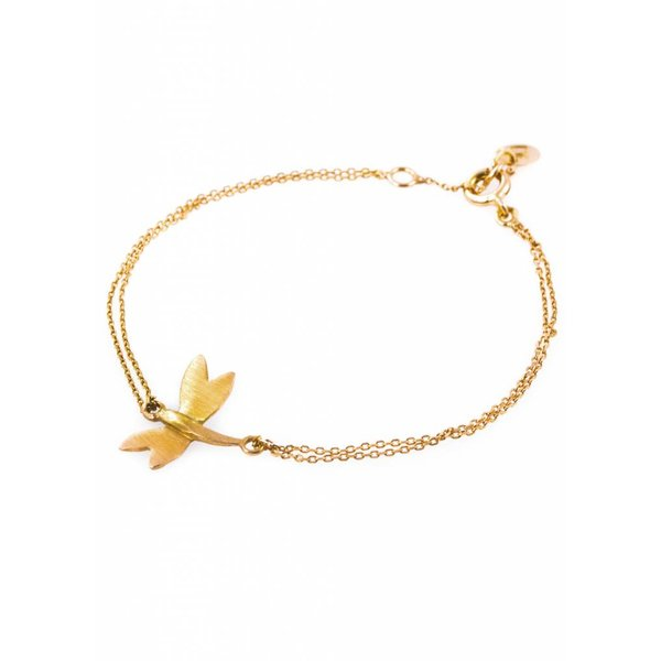 Dragonfly Bracelet - Gold Plated