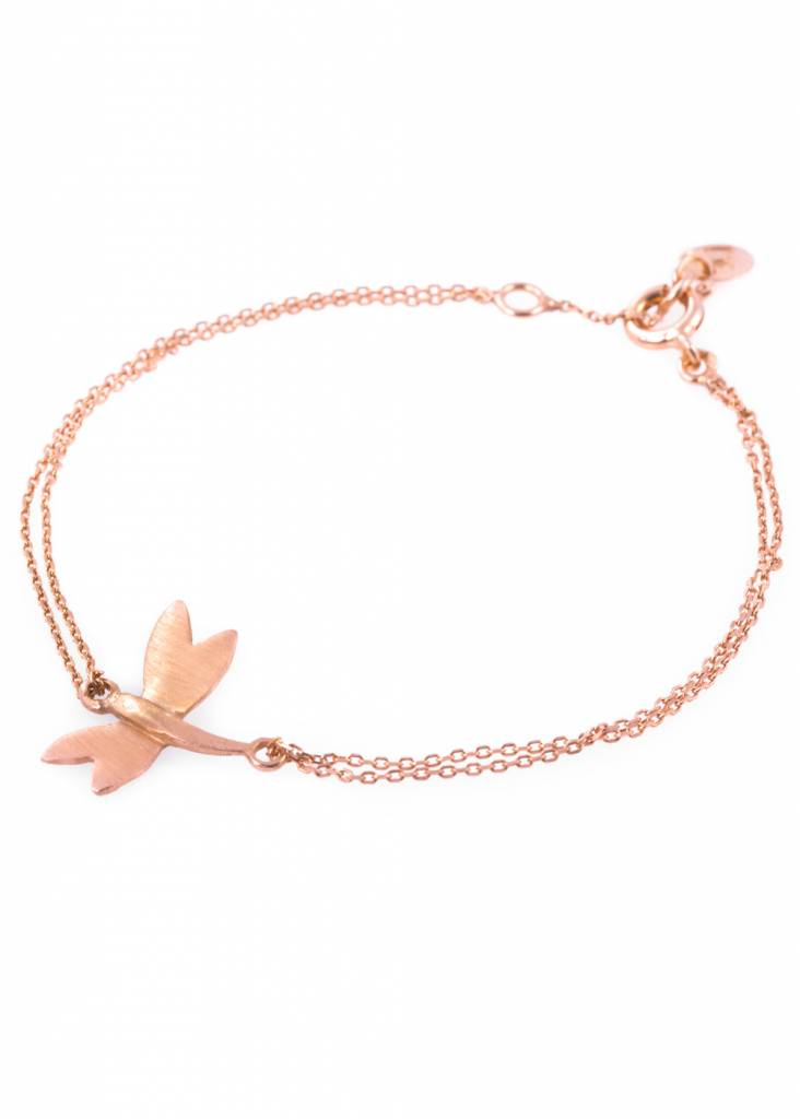 Dutch Basics Dragonfly Bracelet - Rose Plated
