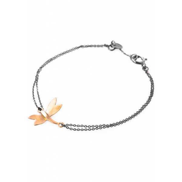 Dragonfly Bracelet - Oxidised and Gold