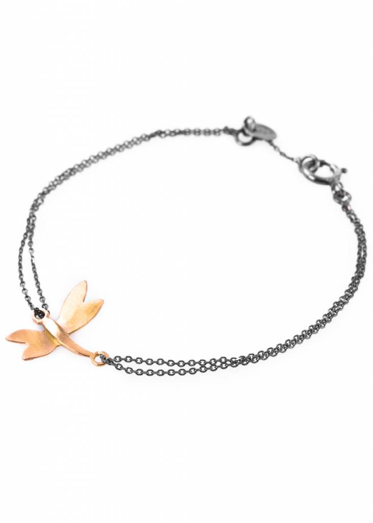 Dutch Basics Dragonfly Bracelet - Oxidised and Gold