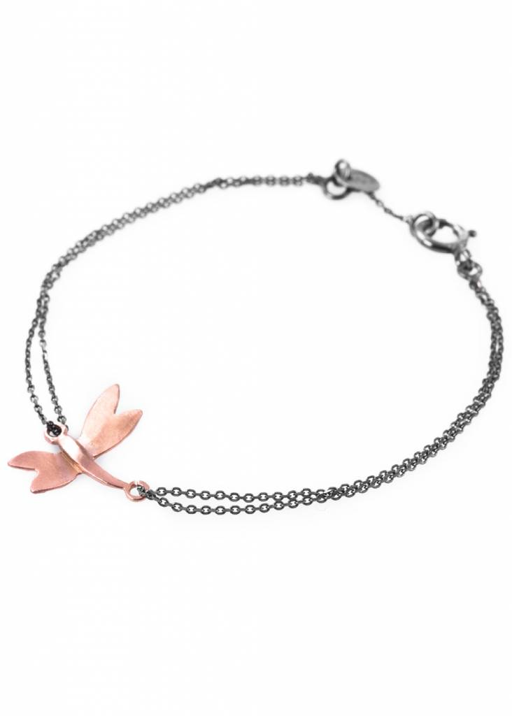 Dutch Basics Dragonfly Bracelet - Oxidised and Rose