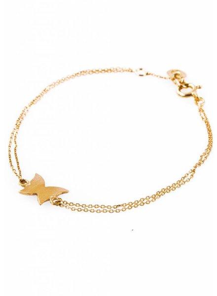 Dutch Basics Gold Plated Butterfly Bracelet