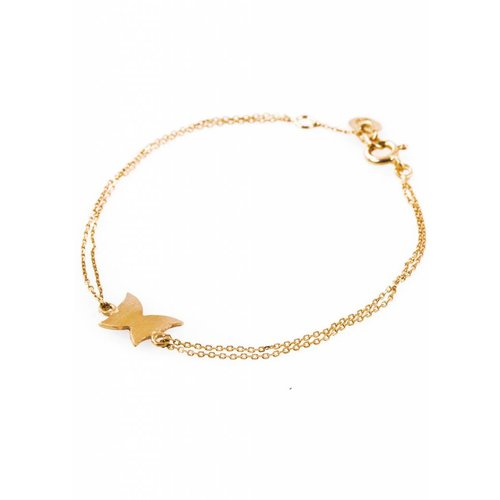 Dutch Basics Gold Plated Butterfly Bracelet