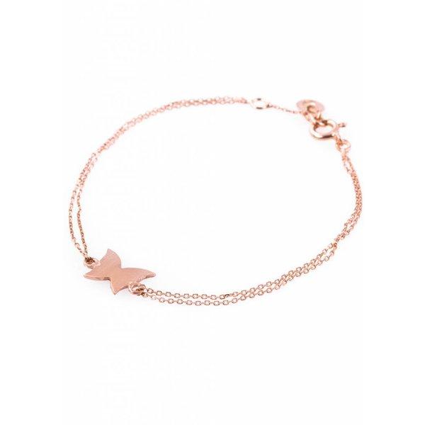 Rose Plated Butterfly Bracelet