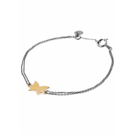 Dutch Basics Butterfly Bracelet - Oxidised en Gold