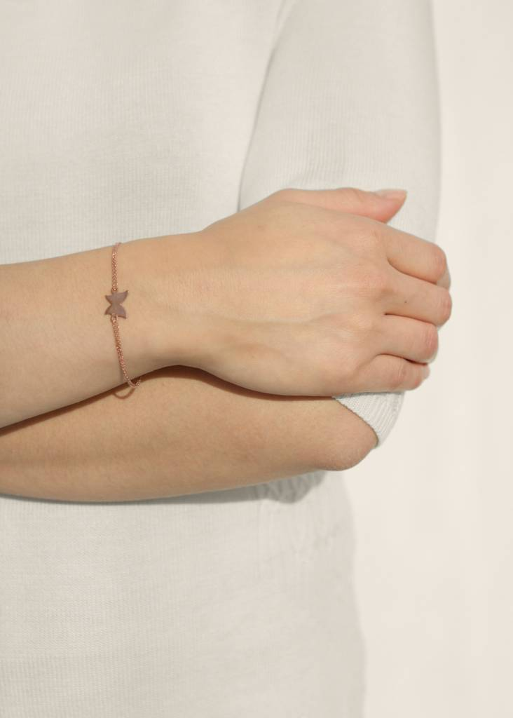 Dutch Basics Butterfly Bracelet - Oxidised and Rose
