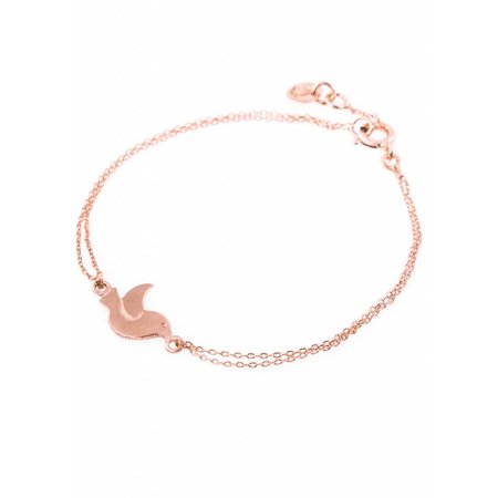 Dutch Basics Bird Bracelet - Rose Plated