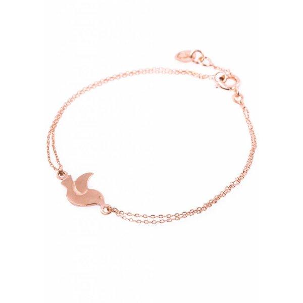 Bird Bracelet - Rose Plated